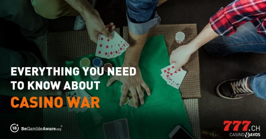 Astuces pour jouer sur Casino War sur Casino777.ch