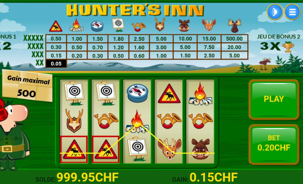 Hunter's Inn : Des tours gratuits à remporter chaque semaine sur Mycasino.ch