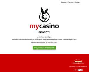 MyCasino.ch fait sa demande d'agrément à la Commission fédérale