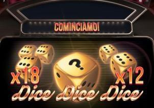 Slot Dice Dice Dice avec un RTP de 94,96 % sur 777.ch
